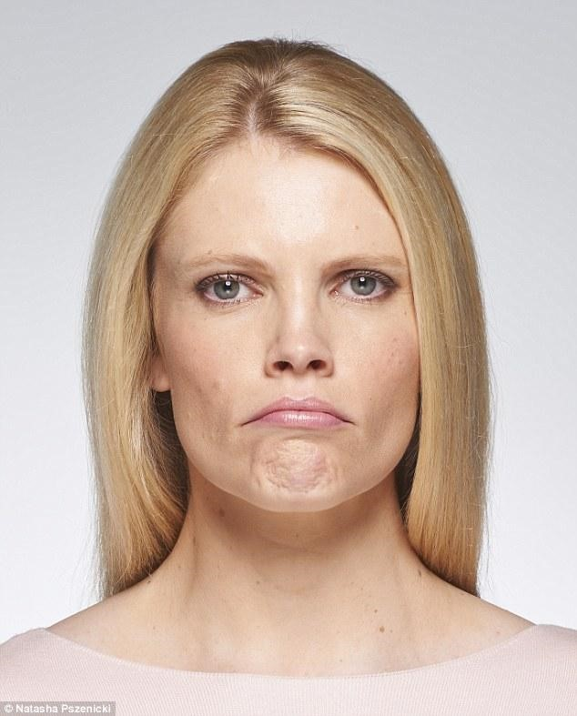 woman with dimpled chin