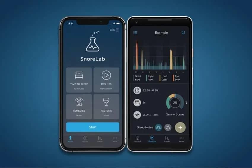 snorelab record snore sleep activity